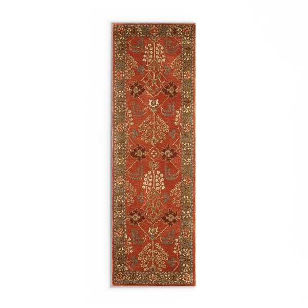 Maison Rouge Marion Handmade Floral Orange/ Brown area Rug - 2'6' x 12'