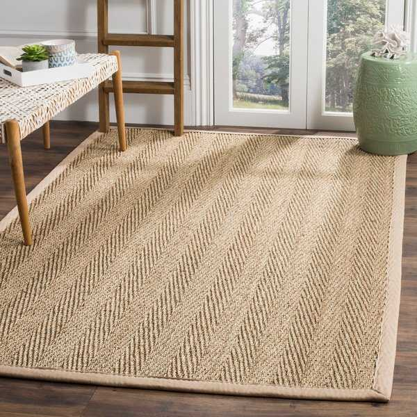 Safavieh Casual Natural Fiber Natural / Beige Seagrass Area Rug - 6' x 9'