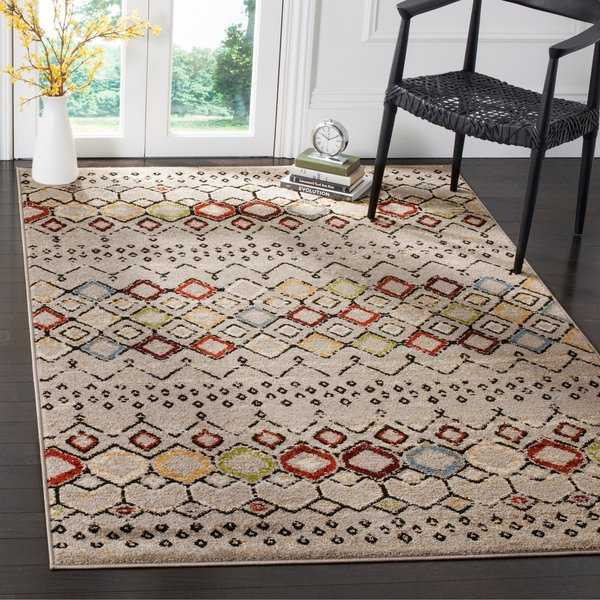 Safavieh Amsterdam Bohemian Light Grey / Multicolored Rug - 5'1' x 7'6'